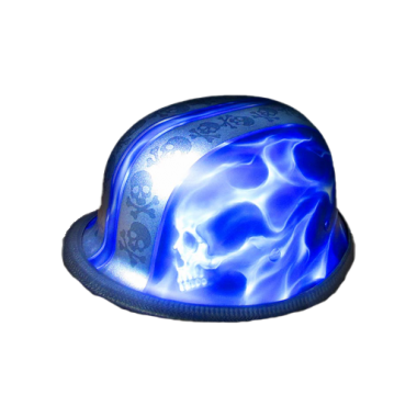 Motorcycle-Half-Custom-Made-Skull-Blue-Riders-Helmet-Safe